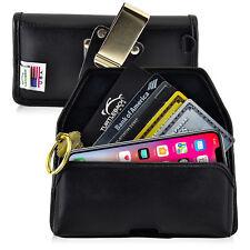 iPhone X Credit Card Belt Clip Black Leather Holster Case Rotating Belt Clip