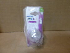 Lot of 4 Philips Avent Natural Baby Bottle Slow Flow Nipple 1M+ 2/Pack each