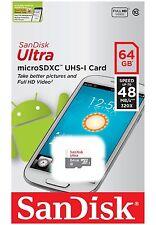 SanDisk 64GB Ultra Class 10 48MB/S 320X MicroSD Micro SDXC UHS-I TF Memory Card