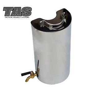TAS STAINLESS STEEL FLINDERS STOVE FLASK OUTDOOR CAMP STOVE WARMER HEATER