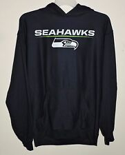 Seattle Seahawks Football NFL Hoodie/Hooded Sweatshirt Navy Blue Size Large -NWT