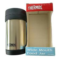 Thermos Vacuum Insulated 16oz Wide Mouth Food Jar Stainless Steel NEW In Box