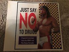 "Vtg 1991 WWF THE TEXAS TORNADO ""SAY NO TO DRUGS"" Photo Print Ad KERRY VON ERICH"