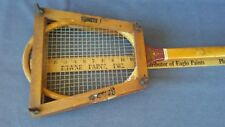 Rare Vintage Wright & Ditson Tennis Racket With Head Press / Frame Protector