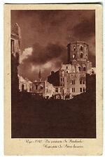 AK Postkarte Riga Lettland - Die zerstörte St. Petrikirche 1941 Baznica