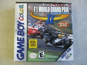 NINTENDO GAME BOY COLOR F1 WORLD GRAND PRIX II BOX AND INSERTS ONLY ORIGINAL