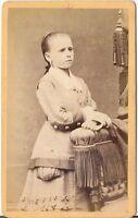 A. Bauer CDV Foto Feines junges Mädchen - Pfaffenhofen 1870er