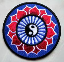 #04 Yin Yang Tao Taoism Symbol Design Embroidered Iron on Patch Free Postage