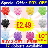 25 X Latex PLAIN BALOON BALLONS helium BALLOONS Quality Party Birthday & Wedding