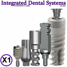 X1 Dental Spiral Implant + Straight Abutment + Healing Cap + Transfer + Analog
