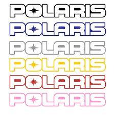 "Polaris Pair of 11"" Outline Stickers Sticker Atv Snowmobile Pick a color Get 2"
