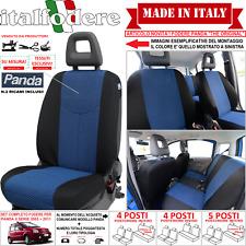 FODERE COPRISEDILI FIAT Panda 2003>2011 S/MISURA FODERINE COMPLETE Azzurro 39