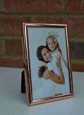 "Copper Metal Photo Frame Modern Classic Fits 4"" x 6"" New"