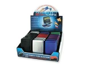 1 PC Aluminum Scan Safe Credit Card Case Holder Security Wallet RFID Resistant