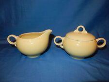 Jonquil Soft Yellow Ballerina Sugar Bowl / Dish Creamer / Cream Pitcher Set
