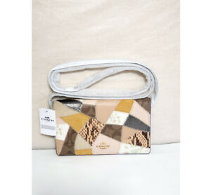 NEW! COACH Foldover Crossbody 88670 Clutch with Signature Canvas Patchwork, $228