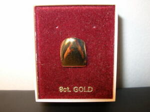 9ct. Solid Gold GANGSTA plain Tooth Cap for side tooth. Real 9ct. so won't fade.