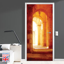 Castle hallway - Self-adhesive Door Mural Stickers UK Made 90cm Width DIY Home