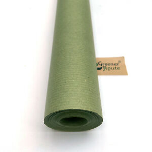 750mm x 25M GREEN Imitation Kraft Wrapping Paper Roll   Eco-friendly Recyclable