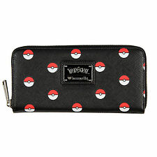 Loungefly Pokemon Pokeballs All Over Print Zip Around Wallet Womens Clothing