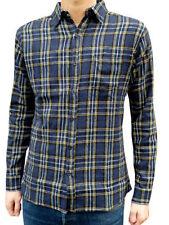 Camicie casual e maglie da uomo blu aderente con colletto