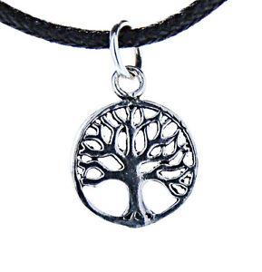 Lebensbaum Anhänger 925 Silber Yggdrasil Weltenbaum Baum Band/Kette Nr. 85A