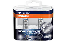 2 Lampadine Lampade Alogene H1 Osram Night Breaker Unlimited 12V 55W +110%