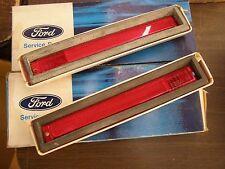 NOS OEM Ford 1974 - 1978 Mustang II 2 Quarter Marker Lamps Lenses 1975 1976 1977