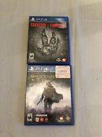 Sony Playstation 4 PS4 Video Games Lot Of 2 Evolve & Shadow Of Mordor