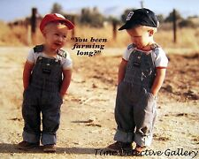 You Been Farming Long?  Boys in Overalls - Giclee Photo Print