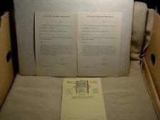 1929 Mills Hi-Boy jukebox Music Menu plus Music Contracts - old and original