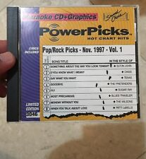Sound Choice Karaoke Powerpicks 3046 pop rock Picks Nov 97 vol 1 CDG Hits SC3046