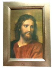 More details for beautiful framed jesus christ hofmann christian catholic icon
