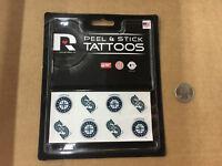 B2) Seattle Mariners Peel and Stick Baseball Tattoos MLB New Free Shipping
