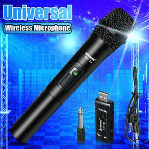 Professional VHF Wireless Microphone Handheld Mic Receiver System Karaoke Wit