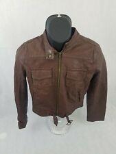 Converse One Star Leather Jacket Full Zipper Jacket Medium brown