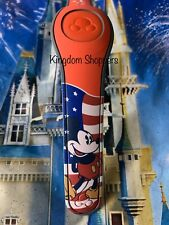 NEW DISNEY PARKS Mickey Mouse USA RED Magic Band Magicband 2 Unlinked