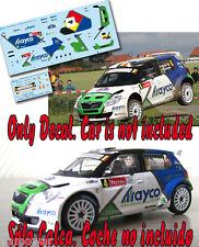 Decal 1:43 Pieter Tsjoen - SKODA FABIA S2000 - Rally Ypres Ieper 2012