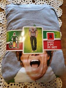 "NEW Elf Movie Buddy Men's 2 pc PJ Set ""Need Hugs"" Sz S"