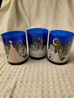 Noritake Twas The Night Before Christmas New Set of 3 Double Old Fashioned Glass