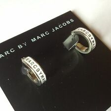 HOT SALE MARC BY MARC JACOBS WHITE GLAZE IRON CARD SILVER EARRINGS #E0538
