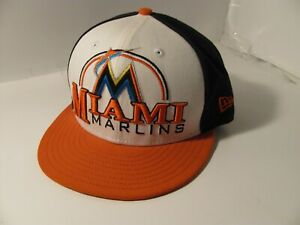 Vintage 59Fifty Miami Marlins Deluxe City Baseball Cap Fitted Size 7 SMALL Hat
