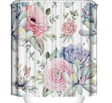 Shower Curtain Bathroom Bathtub Shower Cover Flower Painting Home Art Decoration