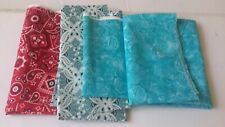 Lot of Assorted Spring Fabric Scraps Strips Remnants Crafts Decor Quilting