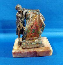 Cold Painted Bronze Statue Sculpture Bedouin Rug Merchant Franz Bergman Style