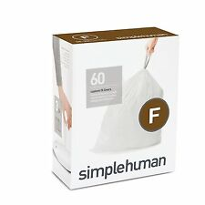 Simplehuman code/size F (25 litres) bin bag liner, CW0256 (Pack of 60)