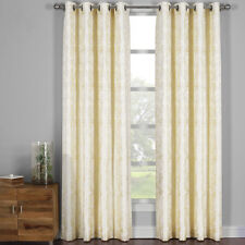 Catalina Garden Theme Jacquard Grommet Top Curtain Panels ( Set of 2 Panels)
