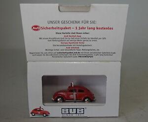 BUB 1/87 Echelle - 06110 VW Kafer 1960 Scarabée AVD - Voiture Miniature