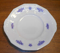 Old Blue Embossed Porcelain Two Handled Dish / Plate