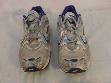 Adult Men's Reebok DMX Foam White Blue Lace Up Athletic Running Shoes 31772